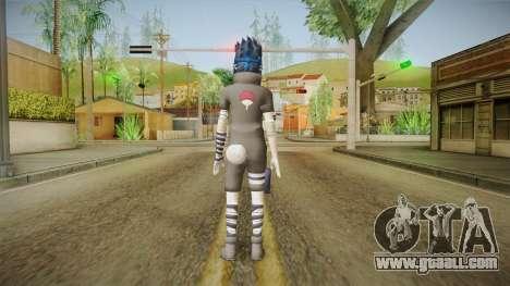 NUNS4 - Sasuke Genin Black Clothes Normal Eyes for GTA San Andreas third screenshot