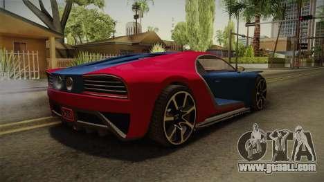GTA 5 Truffade Nero for GTA San Andreas back left view