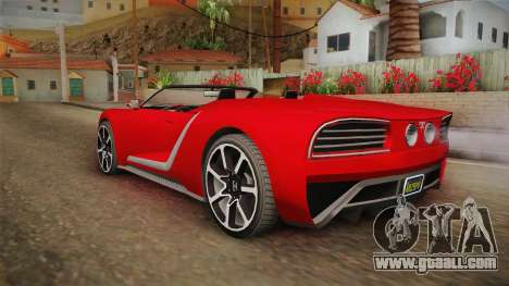 GTA 5 Truffade Nero Spyder for GTA San Andreas left view