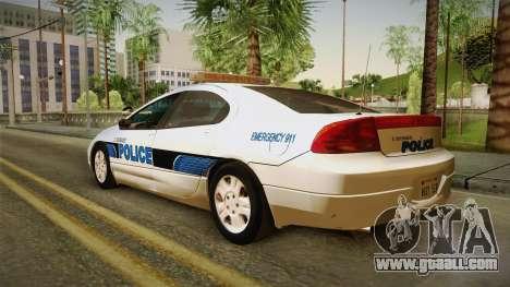 Dodge Intrepid 2001 El Quebrados Police for GTA San Andreas left view