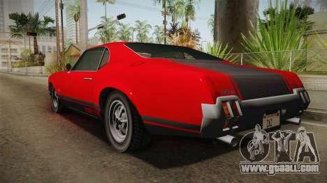 GTA 5 Declasse Sabre GT SA Style for GTA San Andreas right view