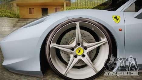 Ferrari 458 Italia FBI for GTA San Andreas back left view