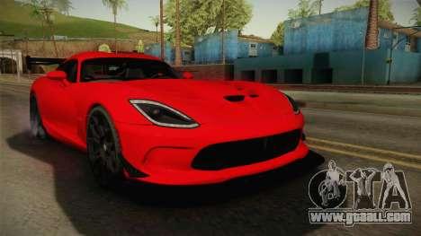 Dodge Viper ACR for GTA San Andreas