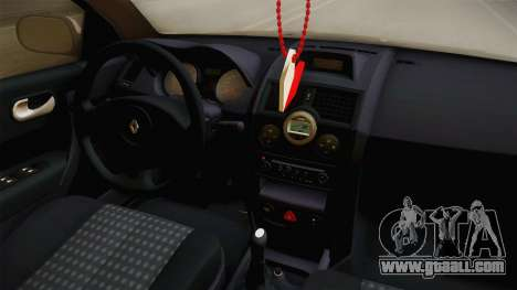 Renault Megane Sedan Stance for GTA San Andreas inner view
