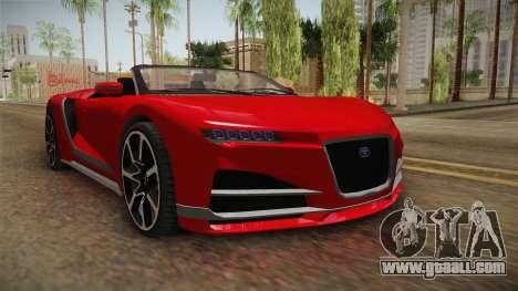 GTA 5 Truffade Nero Spyder for GTA San Andreas right view