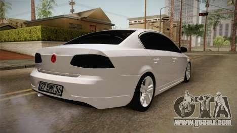 Volkswagen Passat 2011 Beta for GTA San Andreas back left view