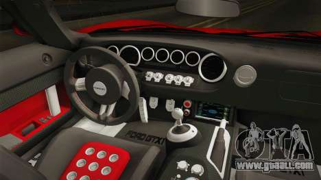 Ford GTX1 FBI for GTA San Andreas inner view
