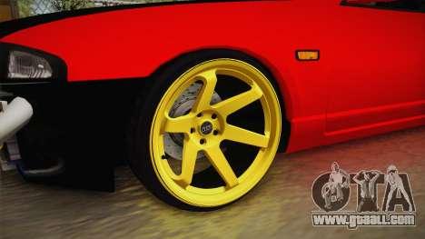 Nissan Skyline R33 Drift for GTA San Andreas back view