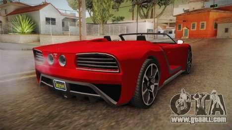 GTA 5 Truffade Nero Spyder for GTA San Andreas back left view