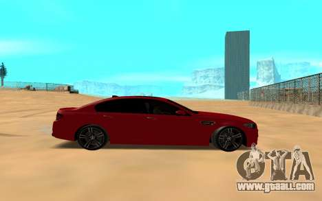 BMW 5 Series F10 for GTA San Andreas back left view