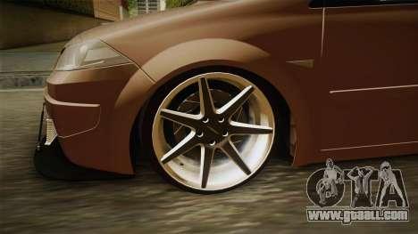 Renault Megane Sedan Stance for GTA San Andreas back view