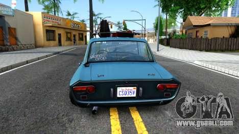 Lancia Fulvia for GTA San Andreas back left view