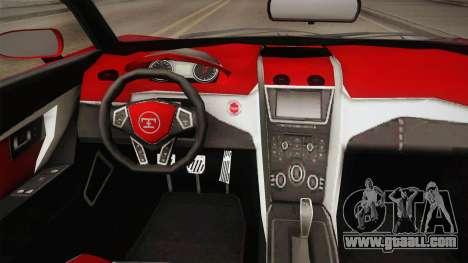 GTA 5 Truffade Nero Spyder for GTA San Andreas inner view