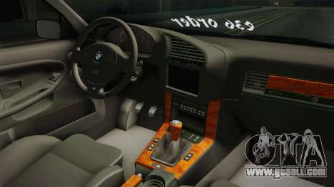 BMW 3 Series E36 ORDER for GTA San Andreas inner view