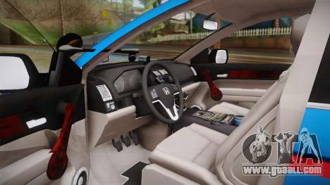Honda CR-V Turkish Gendarmerie for GTA San Andreas back left view