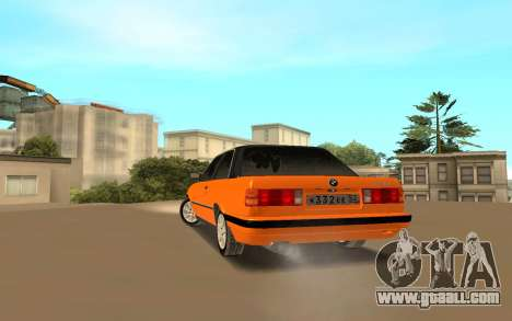 BMW E 30 for GTA San Andreas back left view