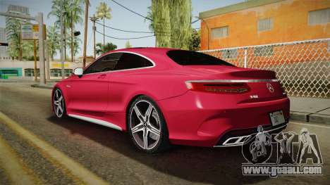 Mercedes-Benz S63 AMG Coupe 2015 v2 for GTA San Andreas left view