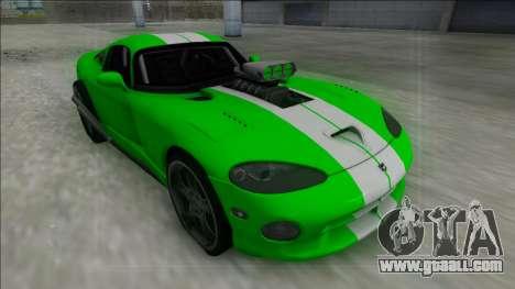 Dodge Viper GTS Drag for GTA San Andreas back left view