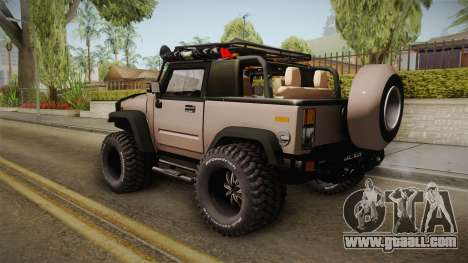 Hummer Wrangler H2 for GTA San Andreas left view