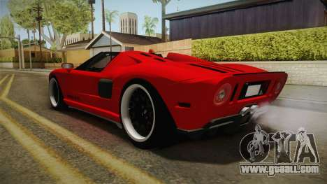 Ford GTX1 FBI for GTA San Andreas back left view