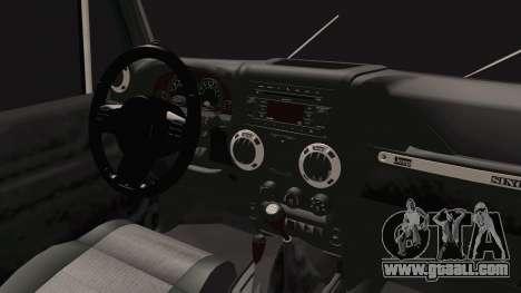 Jeep Wrangler 2012 for GTA San Andreas inner view