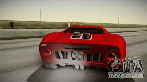 Ford GT40 TwinTurbo for GTA San Andreas back view