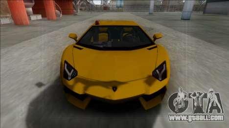Lamborghini Aventador FBI for GTA San Andreas right view