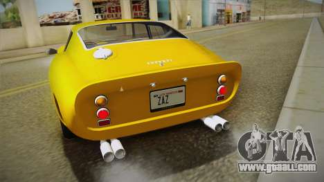 Ferrari 250 GTO (Series I) 1962 IVF PJ1 for GTA San Andreas side view