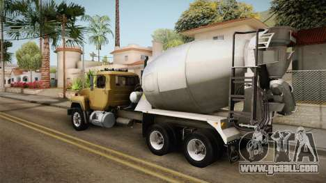 Mack RD690 Cement 1992 v1.0 for GTA San Andreas left view