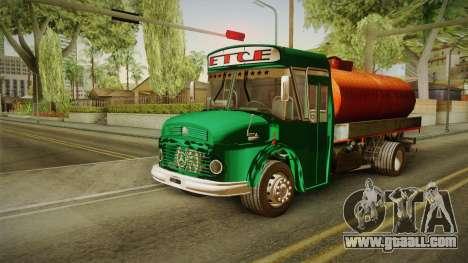 1114 (Bus) Recortado a Camion for GTA San Andreas back left view