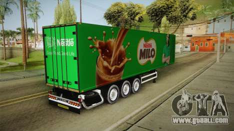 Nestle Milo Trailer for GTA San Andreas back left view