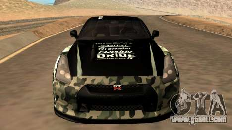 Nissan GTR R35 GTR CLAN for GTA San Andreas right view