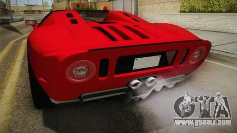 Ford GTX1 FBI for GTA San Andreas bottom view