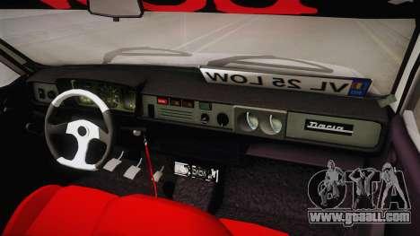 Dacia 1310 TX Low for GTA San Andreas inner view