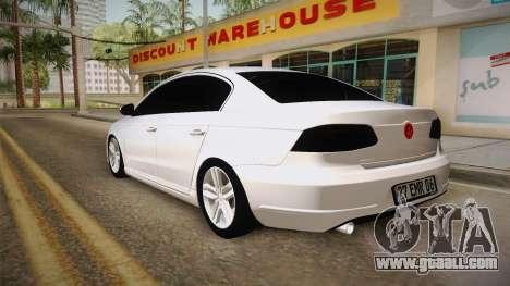 Volkswagen Passat 2011 Beta for GTA San Andreas left view