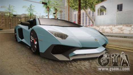 Lamborghini Aventador SV Roadster 2017 for GTA San Andreas