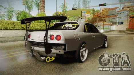 Nissan Skyline R33 Drift for GTA San Andreas back left view