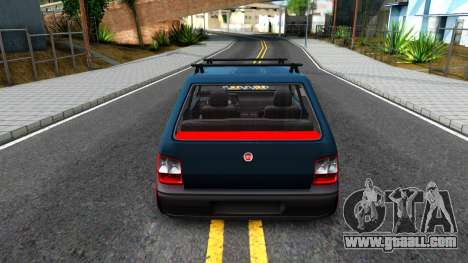 Fiat Uno for GTA San Andreas back left view