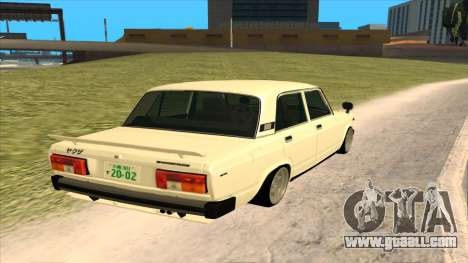 Lada 2105 for GTA San Andreas back left view