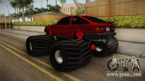 Toyota Corolla GT-S Monster Truck for GTA San Andreas left view