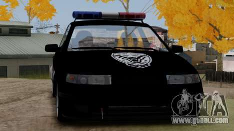 VAZ 2112 POLICE for GTA San Andreas back left view