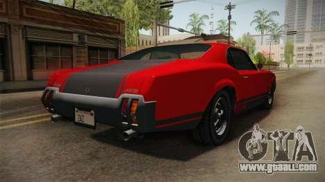 GTA 5 Declasse Sabre GT SA Style for GTA San Andreas left view