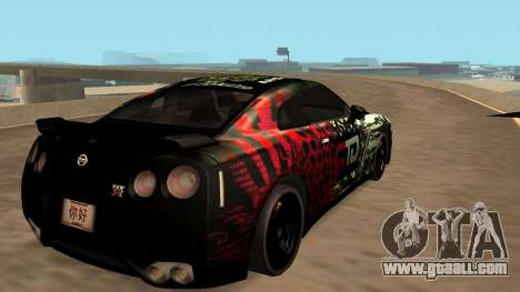 Nissan GTR R35 GTR CLAN for GTA San Andreas back left view