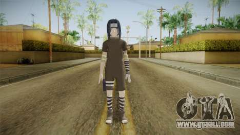 NUNS4 - Sasuke Genin Black Clothes Normal Eyes for GTA San Andreas second screenshot