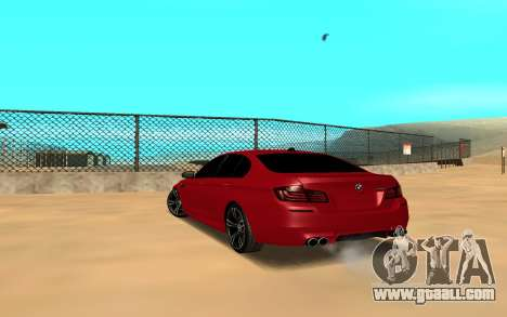 BMW 5 Series F10 for GTA San Andreas left view
