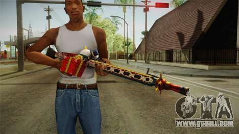 Vindi Xmas Weapon 1 for GTA San Andreas third screenshot