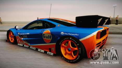 1996 Gulf McLaren F1 GTR (BPR Series) for GTA San Andreas left view