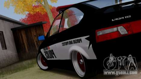 VAZ 2112 POLICE for GTA San Andreas left view