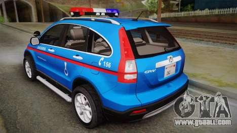 Honda CR-V Turkish Gendarmerie for GTA San Andreas left view