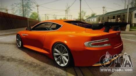 Aston Martin Virage 2012 for GTA San Andreas left view